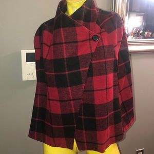 Red Plaid Cape - JACK by BB Dakota Sheeran